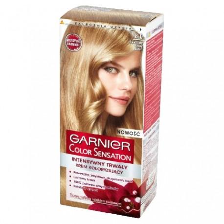 Garnier Color Sensation Krem koloryzujący 8.0 Light Blond- Świetlisty jasny blond