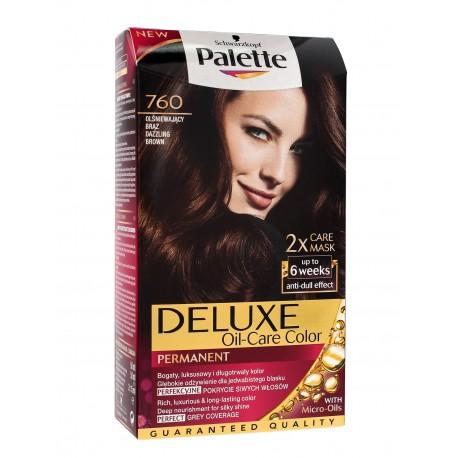 Palette Deluxe Farba do włosów permanentna nr 760 Olśniewający Brąz  1op.