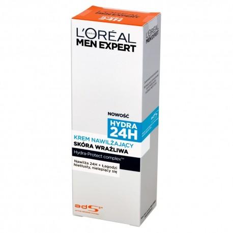 Loreal Men Expert Hydra 24h Krem Nawilżający do skóry wrażliwej