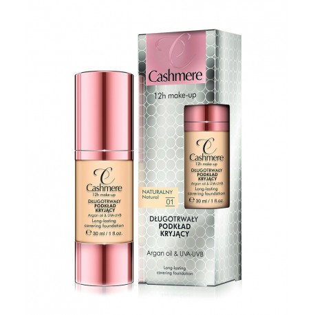 Dax Cosmetics Cashmere make-up 12h 01 naturalny
