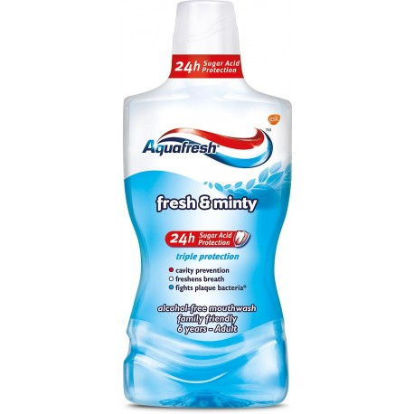 Aquafresh Płyn do ust Triple Protection Extra Fresh &  Minty 500ml