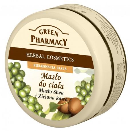Green Pharmacy Masło do ciała Masło Shea, Zielona kawa  200ml