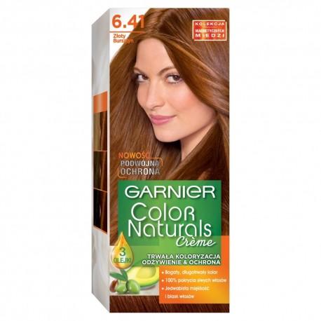 Garnier Color Naturals Krem koloryzujący nr 6.41 Złoty Bursztyn 1op