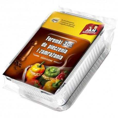 Sarantis Jan Niezbędny Foremki aluminiowe do pieczenia i zamrażania 3szt