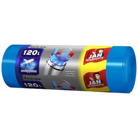 Sarantis Jan Niezbędny Worki na śmieci easy pack niebieskie 120L  15szt