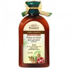 Green Pharmacy Balsam do włosów z olejem arganowym i granatem do włosów suchych