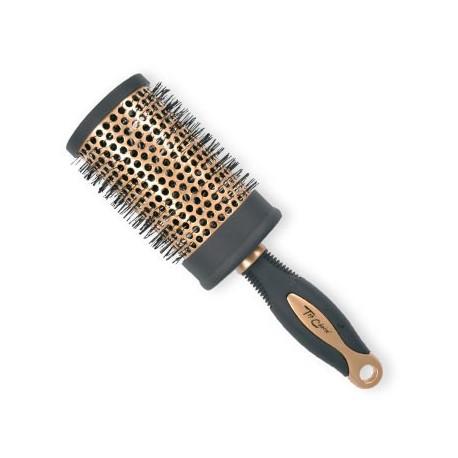 Top Choice Akcesoria do włosów Szczotka do włosów Exclusive rozm XL okrągła złoto/czerń 62049-02