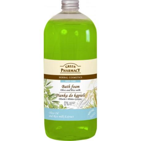 Green Pharmacy Pianka do kąpieli Oliwki & Mleko ryżowe