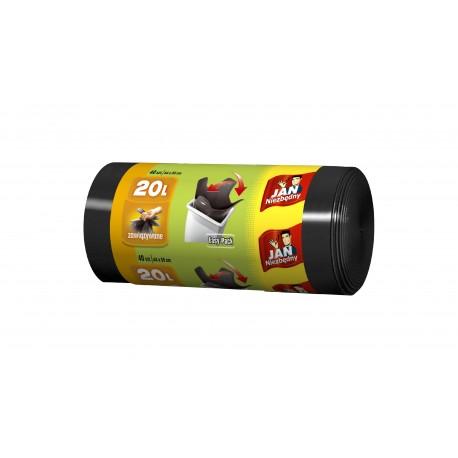 Sarantis Jan Niezbędny Worki na śmieci HD easy pack czarne 20 L  40szt.