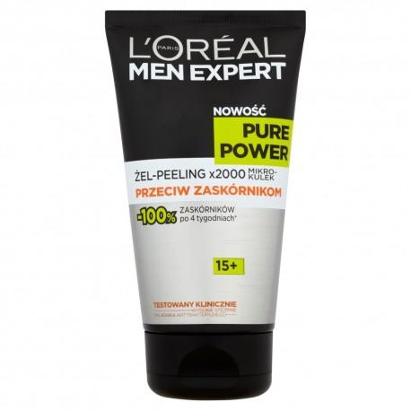 Loreal Men Expert Pure Power Żel-Peeling przeciw zaskórnikom 15+  150ml