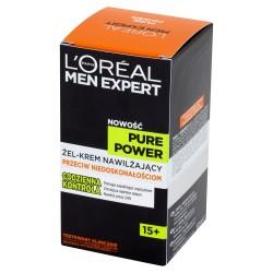 Loreal Men Expert Pure Power Żel-Krem nawilżający przeciw niedoskonałościom 15+  50ml