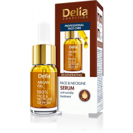 Delia Cosmetics Professional Face Care Serum do twarzy z olejkiem arganowym  100%  10ml