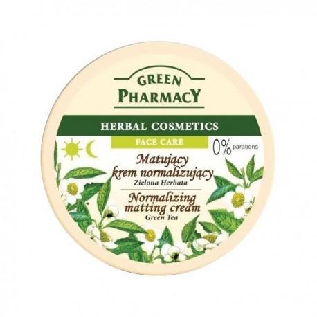 Green Pharmacy Herbal Cosmetics Krem do twarzy normalizujący z zieloną herbatą