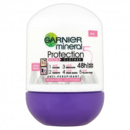 "Garnier Mineral Protection ""5"" Dezodorant w kulce Cotton Fresh"
