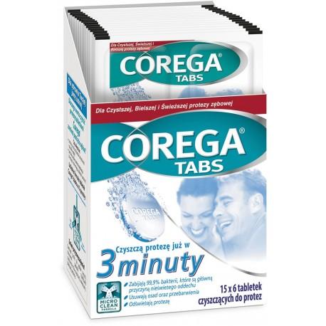 GSK Corega Tabs tabletki 3-minuty blister 6 tabletek