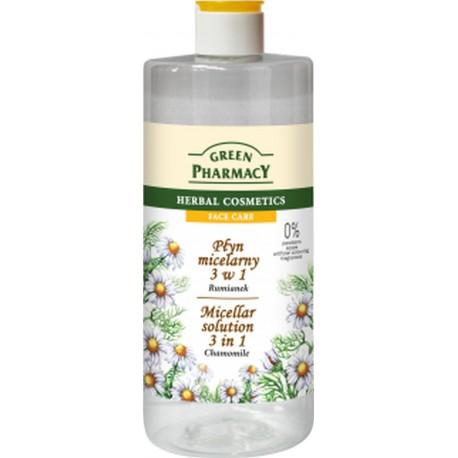 Green Pharmacy Płyn micelarny 3w1 z ekstraktem z rumianku  500ml