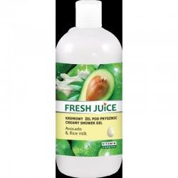 Fresh Juice Żel pod prysznic kremowy Avocado i Mleko Ryżowe 500ml