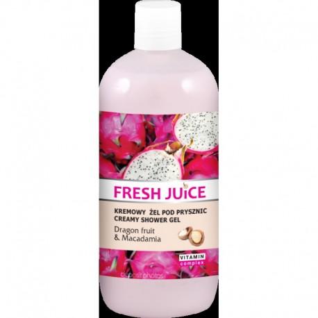 Fresh Juice Żel pod prysznic kremowy Smoczy Owoc i Macadamia 500ml