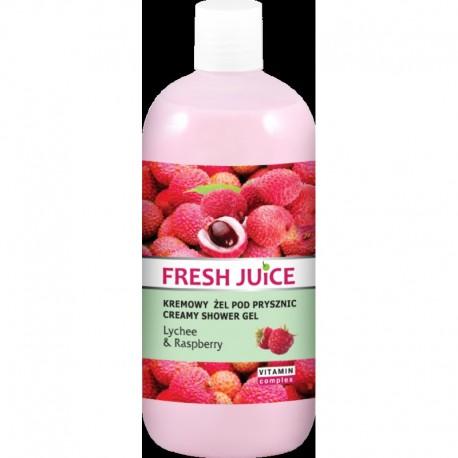 Fresh Juice Żel pod prysznic kremowy Liczi i Malina 500ml