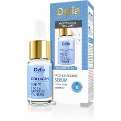 Delia Cosmetics 100% Serum do twarzy,szyi i dekoltu kolagen 10ml