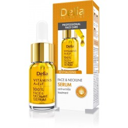Delia Cosmetics Professional Face Care Serum do twarzy,szyi i dekoltu Witaminy A,E i F  100%  10ml