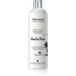 Allverne Nature's Essences Krem do kąpieli i pod prysznic Wanilia-Kokos  500ml