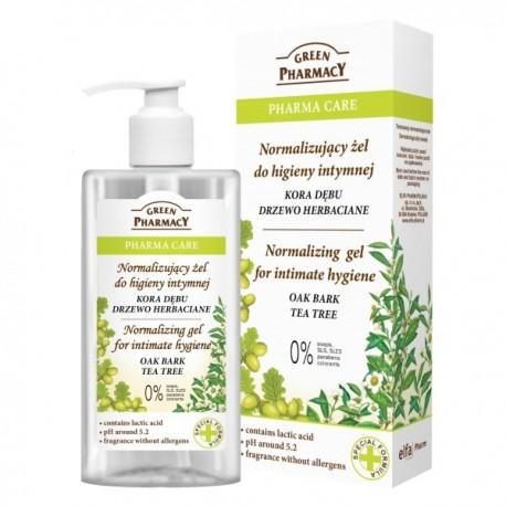 Green Pharmacy Pharma Care Żel do higieny intymnej normalizujący Kora Dębu-Drzewo herbaciane  300ml