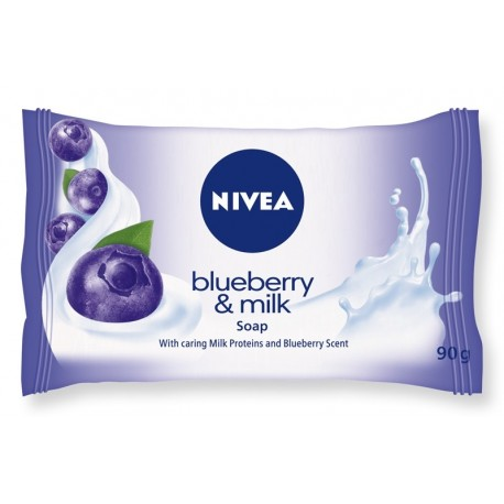 NIVEA MYDŁO Blueberry & Milk kostka 90g