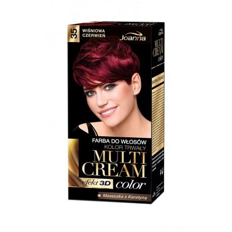 Joanna Multi Cream Color Farba nr 35 Wiśniowa Czerwień