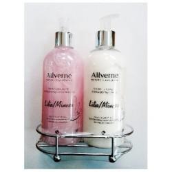 Allverne Nature's Essences Zestaw prezentowy Lilia & Mimoza (mydło 300ml + eliksir do rąk i ciała 300ml)