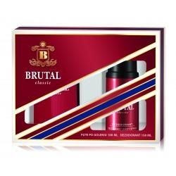 Brutal Classic Zestaw prezentowy (Płyn po goleniu 100ml + Dezodorant spray 150ml)