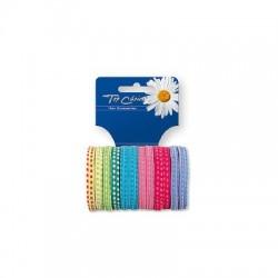 Top Choice Gumki do włosów mix  1op-12szt  22203