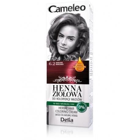 Delia Cosmetics Cameleo Henna Ziołowa  nr 6.2 burgund  75g
