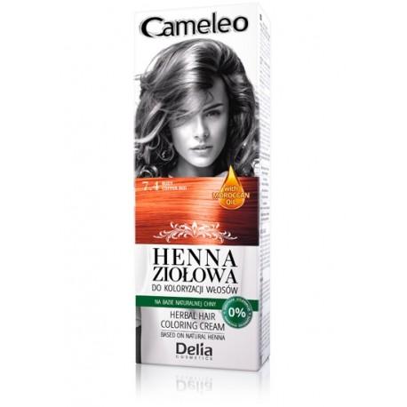 Delia Cosmetics Cameleo Henna Ziołowa  nr 7.4 rudy  75g