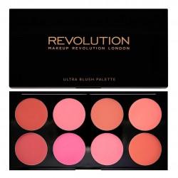Makeup Revolution Ultra Blush Palette 8 Zestaw róży do policzków All About Cream 13g