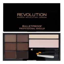 Makeup Revolution Ultra Brow Zestaw do stylizacji brwi Medium to Dark  1op.