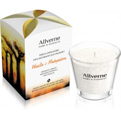 Allverne Home & Essences Świeca zapachowa - Wanilia z Madagaskaru 170g