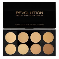Makeup Revolution Ultra Cover and Concealer Palette Korektory Light-Medium  10g