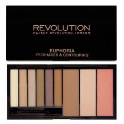 Makeup Revolution Euphoria Palette Bronzed Zestaw do makijażu oczu i twarzy  1op.