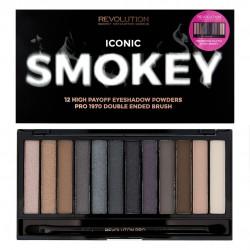 Makeup Revolution Redemption Palette 12 Zestaw cieni do powiek Iconic Smokey   13g (12 kolorów)