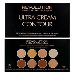 Makeup Revolution Ultra Cream Contour Palette Zestaw do modelowania twarzy 13g