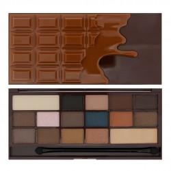I Heart Makeup Palette Zestaw cieni do powiek Chocolate Salted Caramel  22g (16 kolorów)