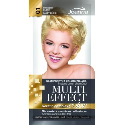 Joanna Multi Effect Color Keratin Complex Szamponetka 01 Piaskowy blond  35g