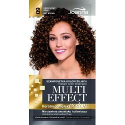Joanna Multi Effect Color Keratin Complex Szamponetka 09 Orzechowy Brąz  35g