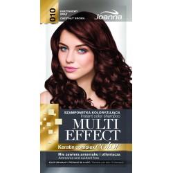 Joanna Multi Effect Color Keratin Complex Szamponetka 10 Kasztanowy Brąz  35g