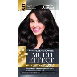 Joanna Multi Effect Color Keratin Complex Szamponetka 11 Kawowy Brąz  35g