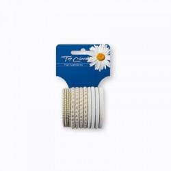 Top Choice Akcesoria do włosów White Gumki (22456)   1op.-12szt