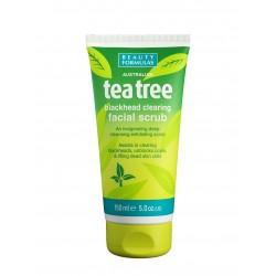 Beauty Formulas Tea Tree Peeling oczyszczający do twarzy  150ml