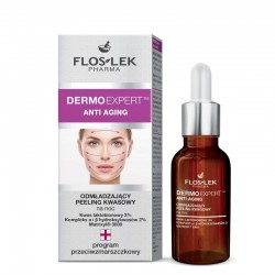 Floslek Pharma Dermo Expert Anti Aging Peeling kwasowy odmładzający na noc 30ml