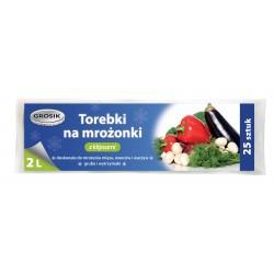 Sarantis Jan Niezbędny Grosik Torebki na mrożonki z klipsem 2L 1op.-25szt